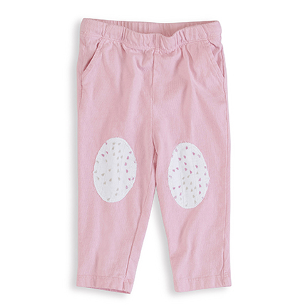 2762 1 lovely solid pink jersey pants