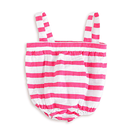 2908 1 shocking pink blazer stripe romper