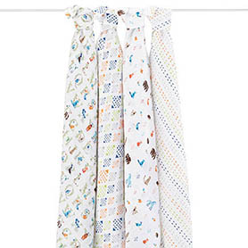 2057 1 swaddle muslin letters animal alphabet