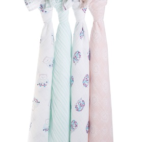 thistle 4-pack classic swaddles