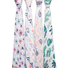trail blooms 4-pack classic swaddles