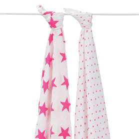 fluro pink classic swaddles