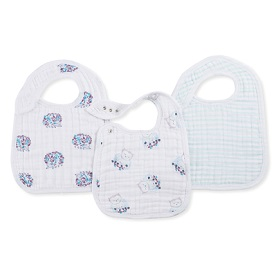 thistle 3-pack classic snap bibs