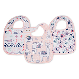 trail blooms 3-pack classic snap bibs