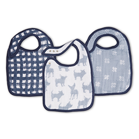 waverly 3-pack classic snap bibs