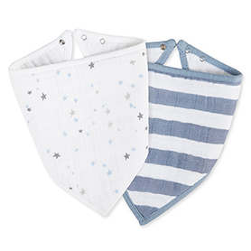night sky + rock star bandana bibs