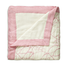 tranquility - leafy + white bamboo dream blankets