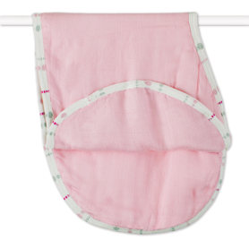 tranquility - solid rose bamboo burpy bibs