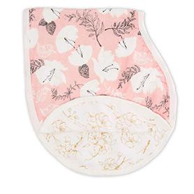 pretty petals - soft petals silky soft burpy bib