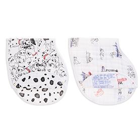 101 dalmatians 2-pack burpy bibs