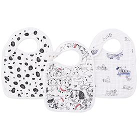 101 dalmatians 3-pack snap bibs