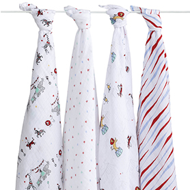 vintage circus classic swaddles