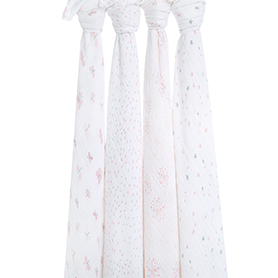 lovely reverie 4-pack classic swaddles