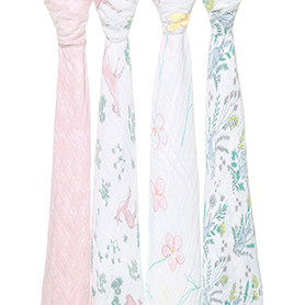 forest fantasy 4-pack classic swaddles