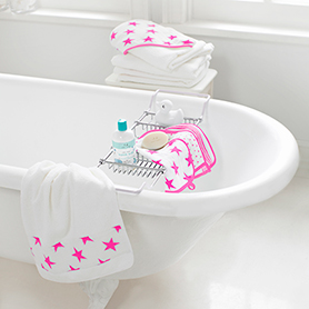 fluro pink hooded towel sets
