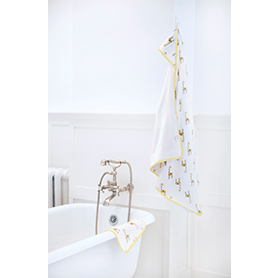 jungle jam muslin backed hooded towel set