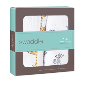 jungle jam 2-pack classic swaddles
