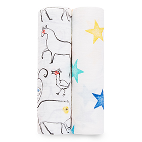 color pop 2-pack classic swaddles