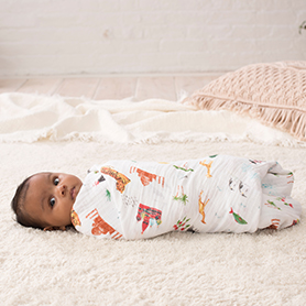 around the world 2-pack classic swaddles