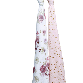 dahlias 2-pack classic swaddles