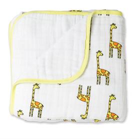 jungle jam - giraffe + white classic dream blanket