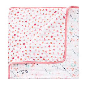petal blooms-dots classic mini dream blanket