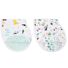 around the world 2-pack classic burpy bibs