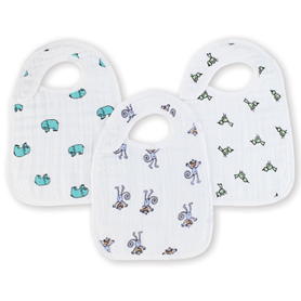 jungle jam classic snap bibs