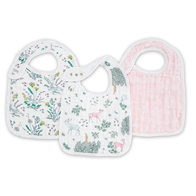 forest fantasy 3-pack classic snap bibs