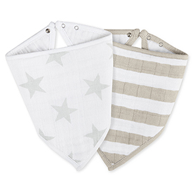 stardust + shine on bandana bibs