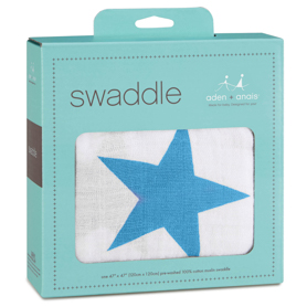 brilliant blue classic swaddle