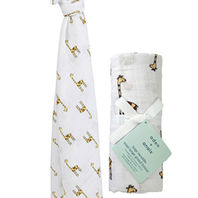 jungle jam - giraffe classic swaddle