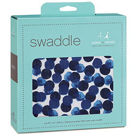 seafaring - aqua dot classic swaddle