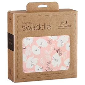 pretty petals - soft petals silky soft swaddle