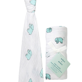 jungle jam - elephant classic swaddle