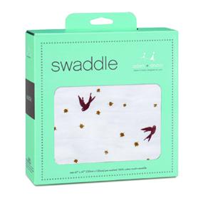 dahlias - sparrow classic swaddle
