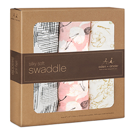 pretty petals 3 pack silky soft swaddles