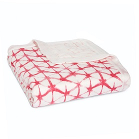 berry shibori silky soft dream blanket