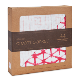 berry shibori silky soft dream blanket