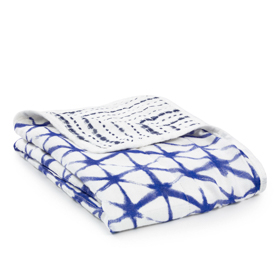 indigo silky soft mini dream blanket