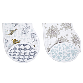 jungle 2-pack classic burpy bibs