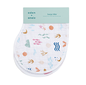 salty kisses 2-pack classic burpy bibs