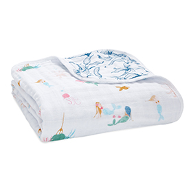 salty kisses - mermaids classic dream blanket