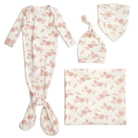 rosettes snuggle knit newborn gift set