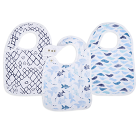 gone fishing 3-pack classic snap bibs