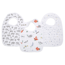 naturally 3-pack classic snap bibs