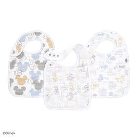 mickey+minnie 3-pack classic snap bibs