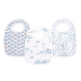 sunrise 3-pack classic snap bibs