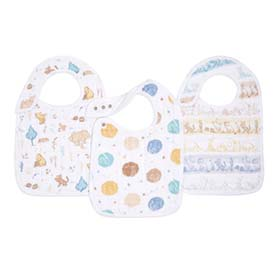 winnie in the woods 3-pack classic snap bibs