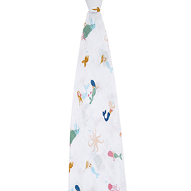 salty kisses - mermaids classic swaddle